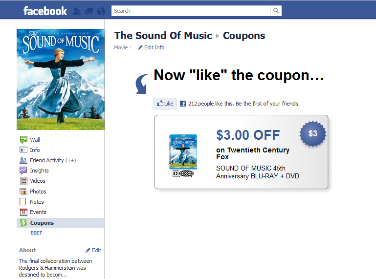TSOM Facebook Coupon