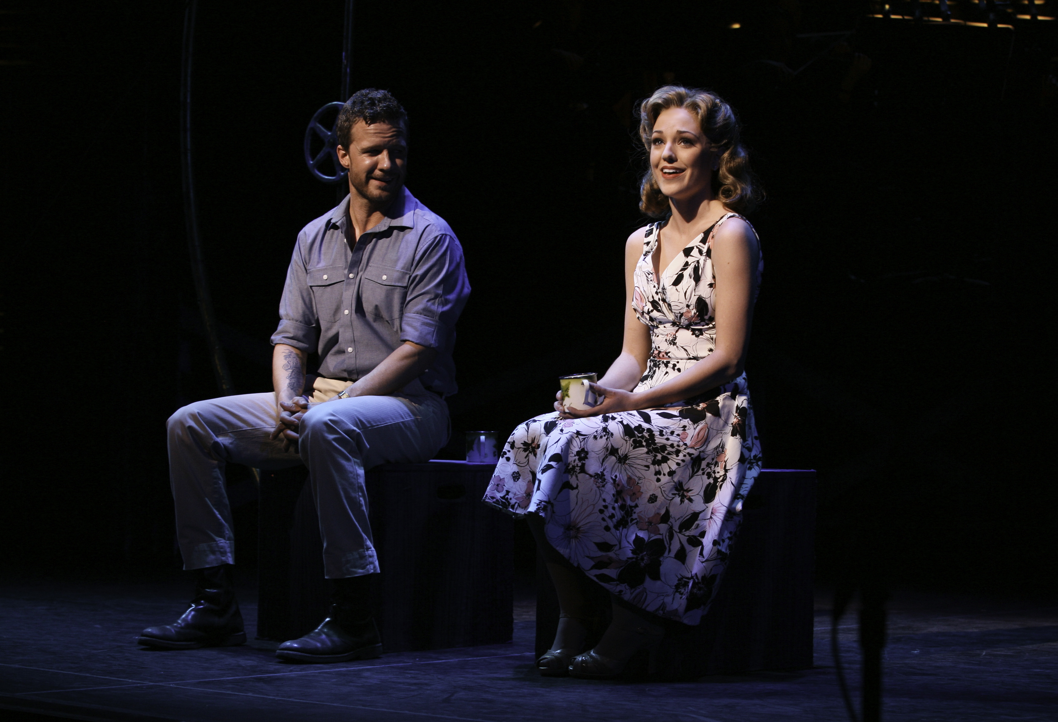 Will Chase & Laura Osnes, PIPE DREAM photo by Ari Mint