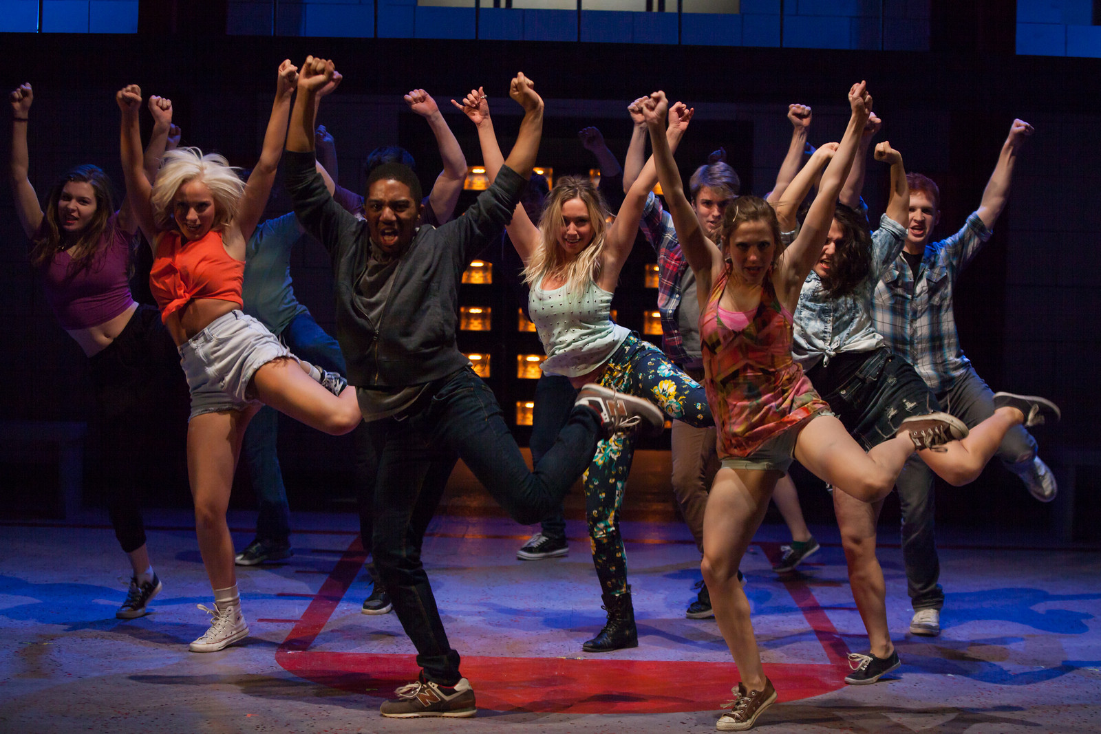 The cast of CARRIE dances hard at the Beck Center