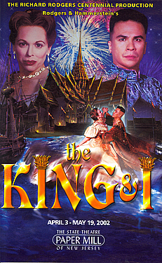 THE KING & I Program from the Paper Mill Playhouse