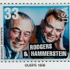 33 Cent Stamp Issued in 1998 of Rodgers & Hammerstein
