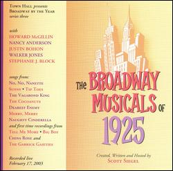 THE BROADWAY MUSICALS OF 1925