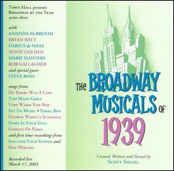 THE BROADWAY MUSICALS OF 1939
