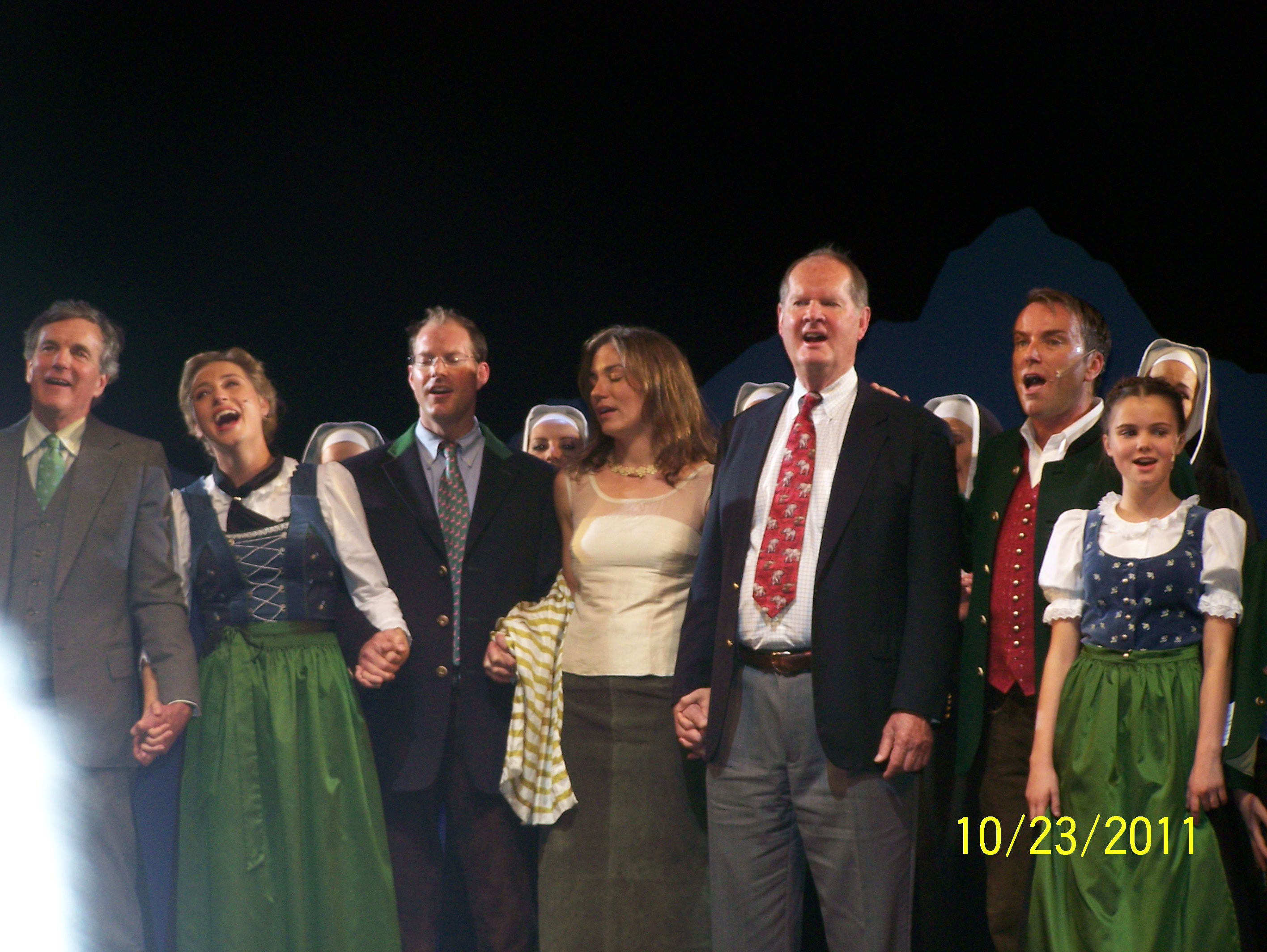 The cast of THE SOUND OF MUSIC in Salzburg