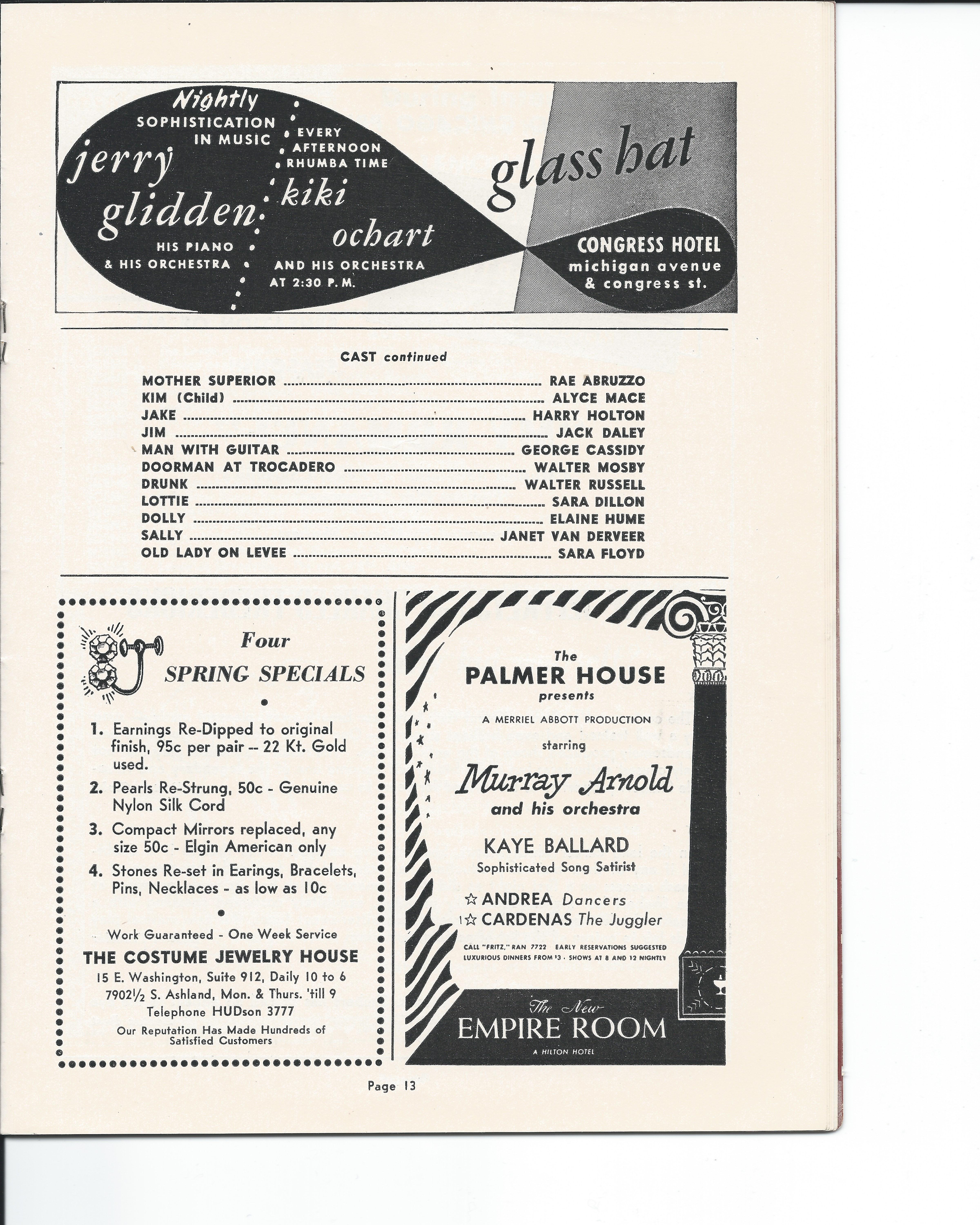 Showboat Stagebill - Chicago Shubert Theater, 3/21/1948 p. 13