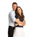 Will Chase and Laura Osnes