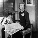 Gertrude Lawrence as Liza Elliott in the original Broadway production of LADY IN THE DARK, 1941.  Liza can't decide which cover to choose for the next issue of Allure Magazine.