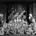 The Circus Dream in the original Broadway production of LADY IN THE DARK, 1941.  Gertrude Lawrence and Victor Mature, far left; Danny Kaye, far right.
