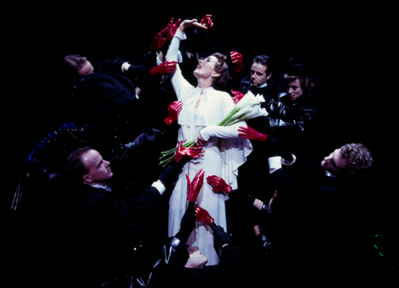 Andrea Marcovicci as Liza Elliott in LADY IN THE DARK at the Prince Music Theater, 2001.