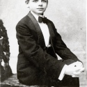 Oscar Hammerstein II in his first dress suit