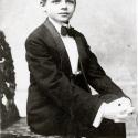 Oscar Hammerstein II in his first dress suit