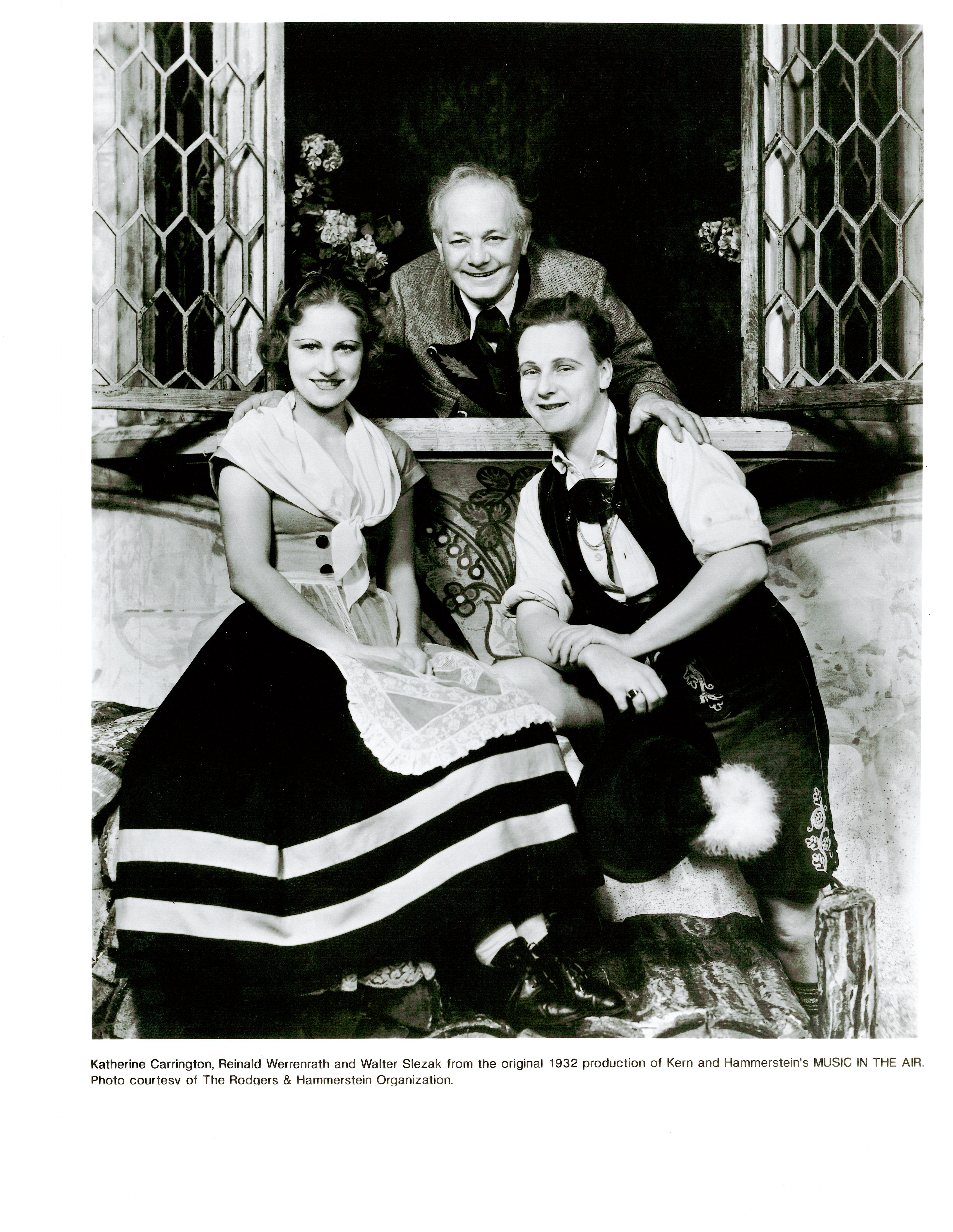 Katherine Carrington, Reinald Werrenrath, and Walter Slezak in MUSIC IN THE AIR (1932)