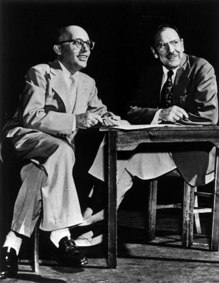 LOST IN THE STARS authors Kurt Weill and Maxwell Anderson.