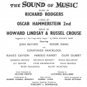 Original 1961 West End Production Program Title Page
