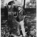 Oscar Hammerstein II at his home in Doylestown, PA