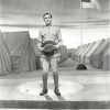 Irving Berlin appearing onstage in THIS IS THE ARMY.