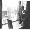 Irving Berlin looking out the window, 1968.